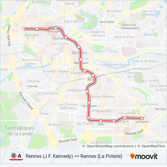 A Route Time Schedules Stops Maps J F Kennedy