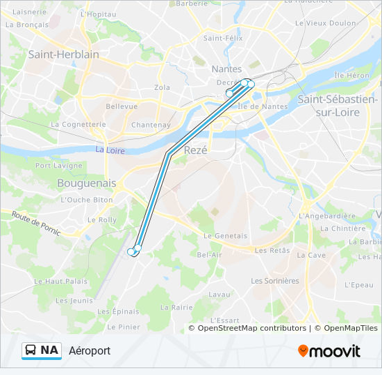Nantes Karte.Linie Na Fahrpläne Haltestelle Karten Nantes Atlantique
