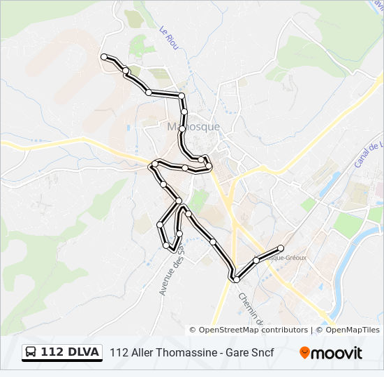 Plan de la ligne 112 DLVA de bus
