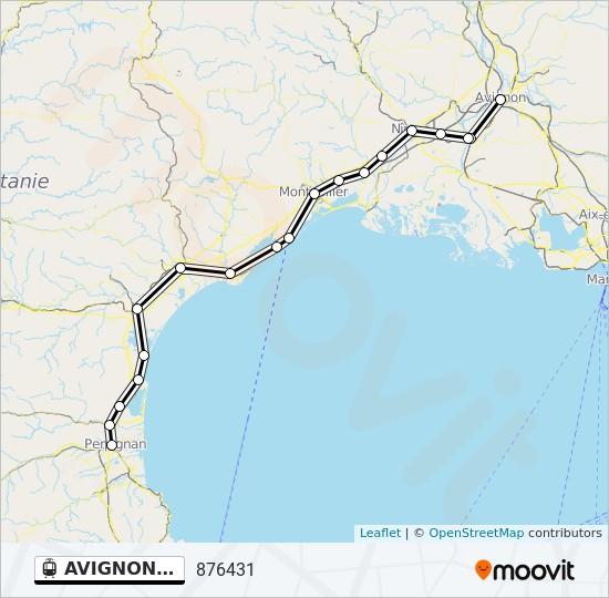 Linie Avignon Port Bou Fahrplane Haltestelle Karten 876431