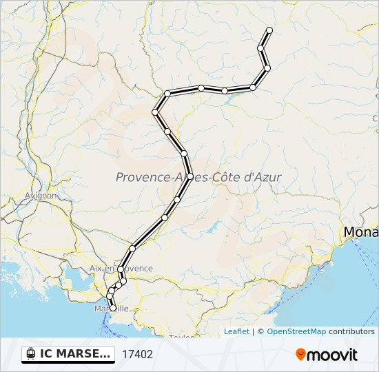 Sisteron France Map.Ic Marseille Sisteron Briancon Gap Bri Route Time Schedules