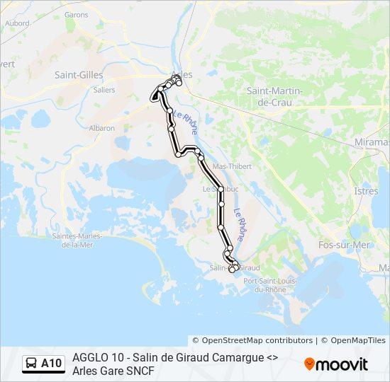 Camargue Karte.Linie A10 Fahrpläne Haltestelle Karten Arles Gabriel Péri