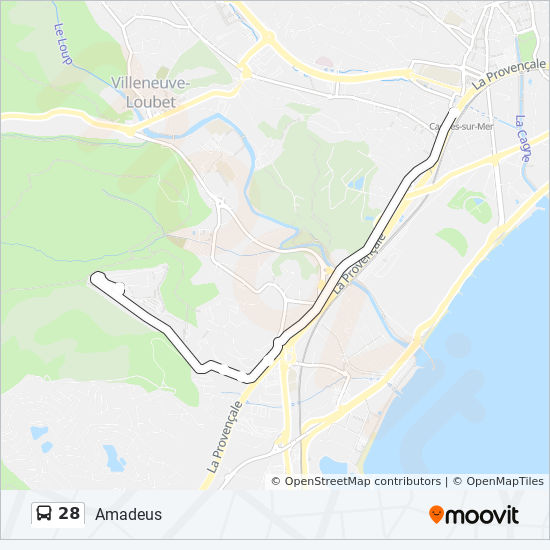 28 Route: Time Schedules, Stops & Maps - Amadeus