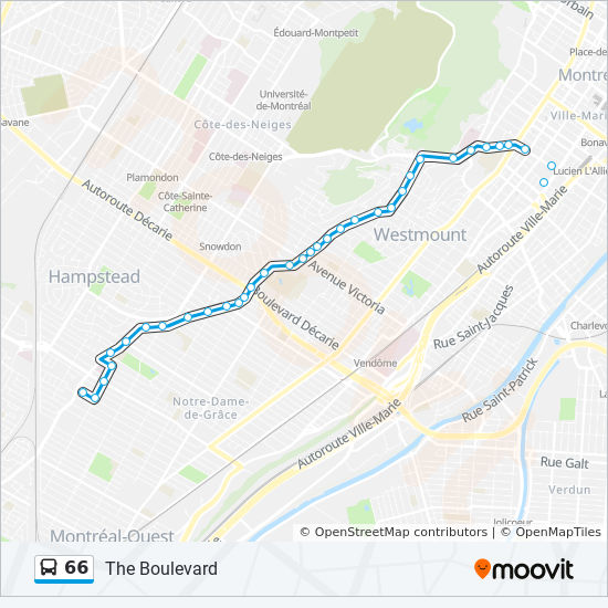 Montreal Subway Map Pdf.66 Route Time Schedules Stops Maps 66 N
