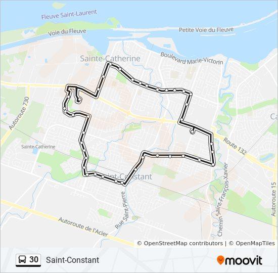 Mapa de 30 de autobús