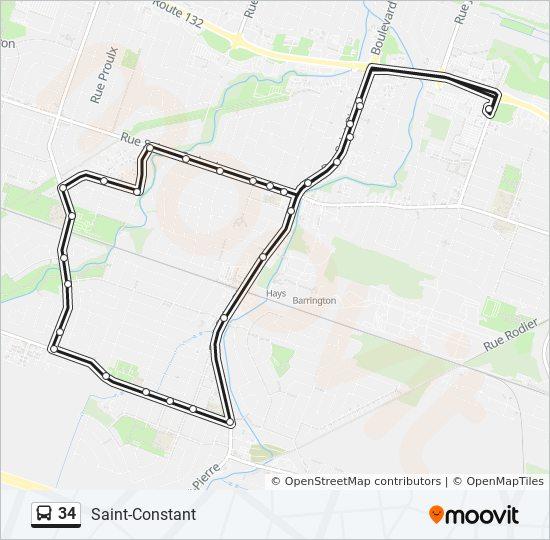 Mapa de 34 de autobús