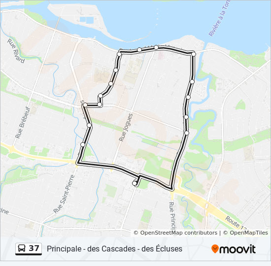 Mapa de 37 de autobús