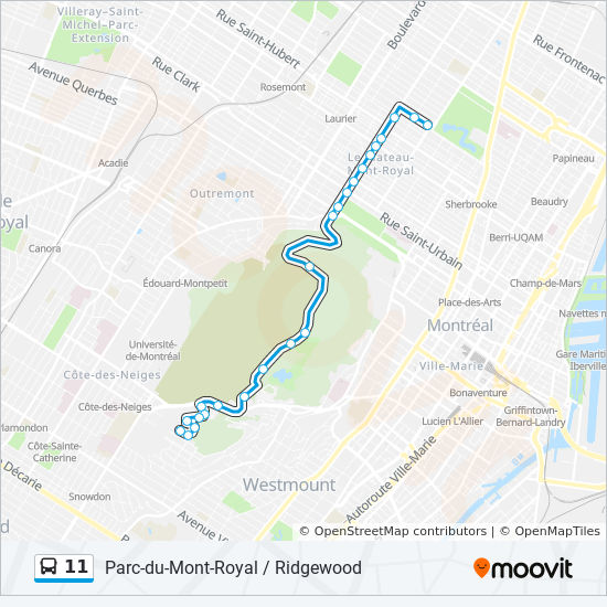 Montreal Subway Map Pdf.11 Route Time Schedules Stops Maps 11 O