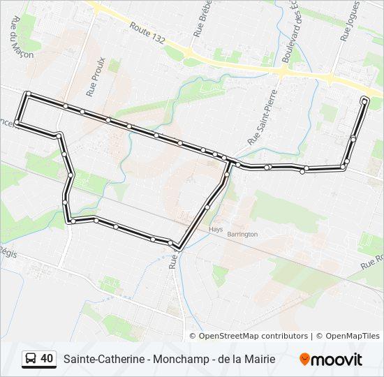 Mapa de 40 de autobús