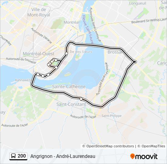 Mapa de 200 de autobús