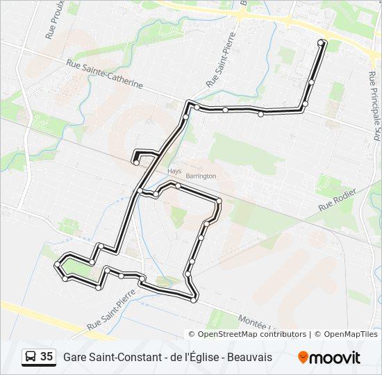 Mapa de 35 de autobús
