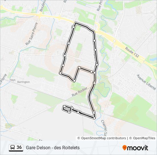 Mapa de 36 de autobús