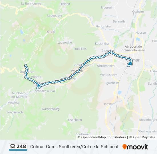 Elsass Karte Colmar.Linie 248 Fahrpläne Haltestelle Karten Colmar Gare