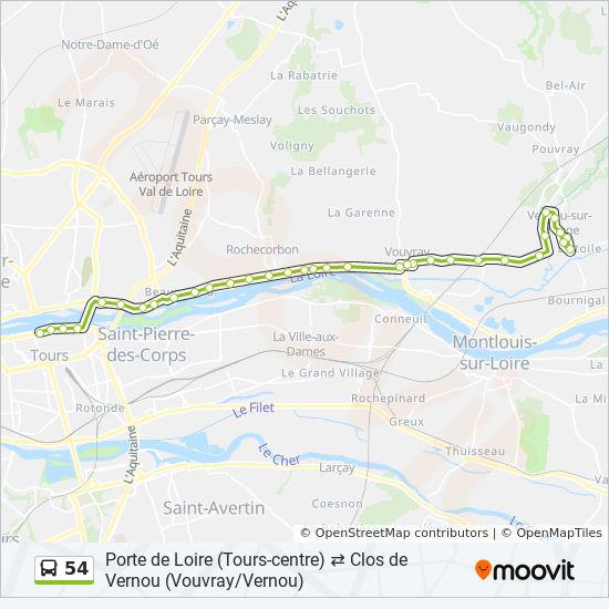 54 Route: Time Schedules, Stops & Maps - Clos De Vernou on
