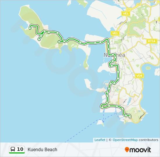 10 bus Line Map