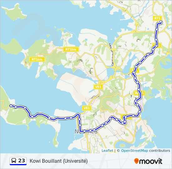 23 bus Line Map