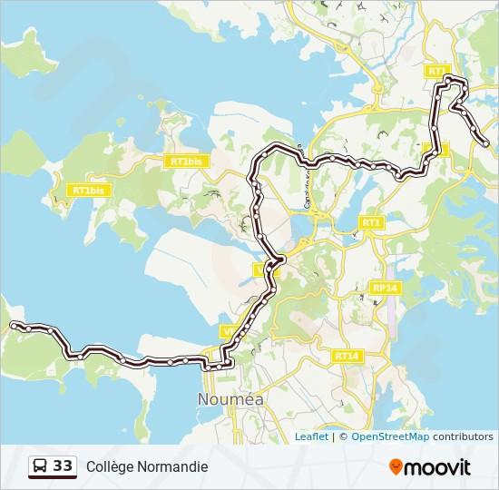33 bus Line Map