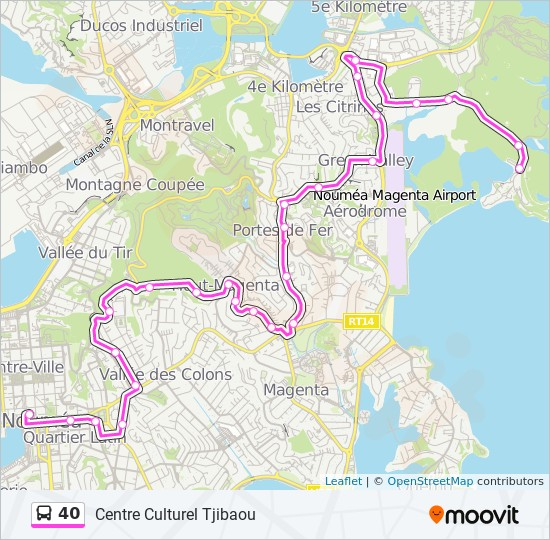 40 bus Line Map