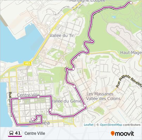 41 bus Line Map
