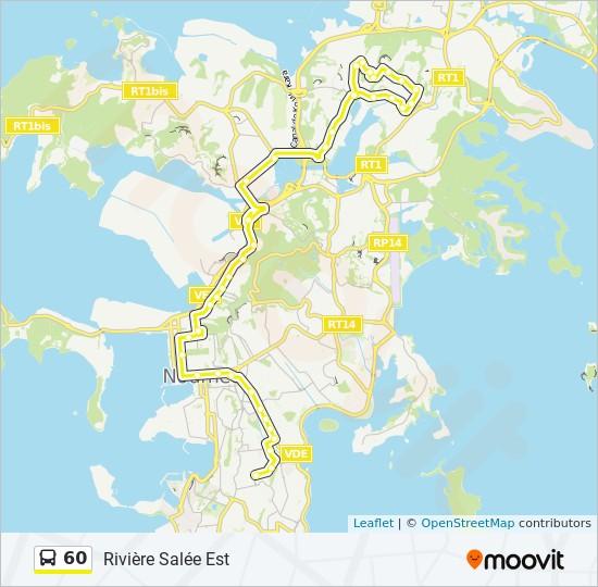 60 bus Line Map