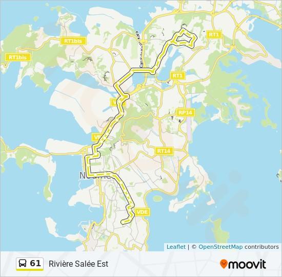 61 bus Line Map