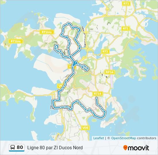 80 bus Line Map