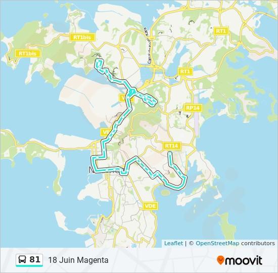 81 bus Line Map