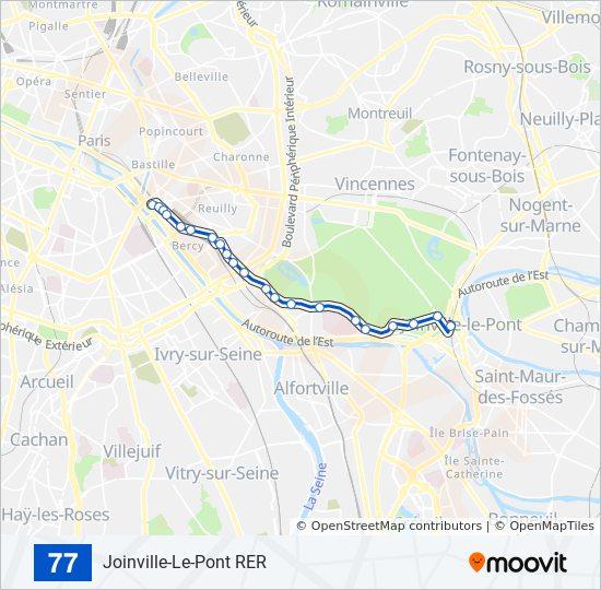 77 Route: Time Schedules, Stops & Maps - Gare de Lyon on arc de triomphe map, wenceslas square map, argentina map, the london underground map, vincennes map, champ de mars map, paris map, lyon france metro map, lyon train station map, europe map, ville de lyon map,