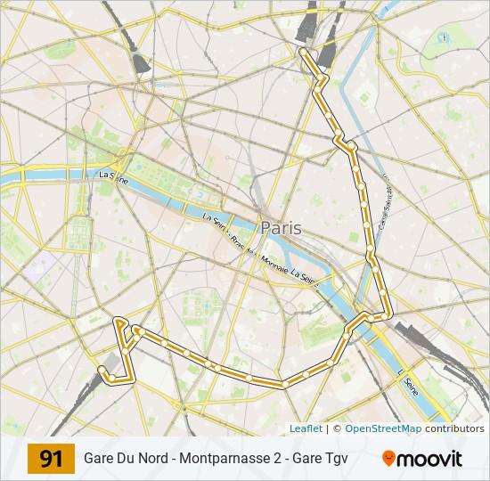 Ligne 91 Horaires Stations Plans