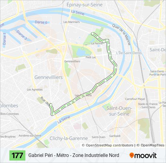 177 Route Time Schedules Stops Maps Gabriel Peri Metro