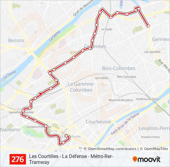 Ligne 276: Horaires, plans & stations