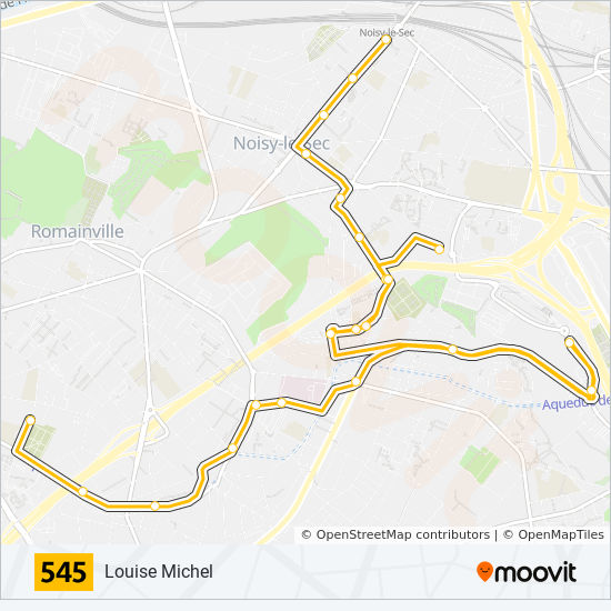 545 Route: Time Schedules, Stops & Maps - Louise Michel