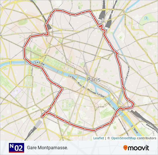 Ligne N02 Horaires Stations Plans