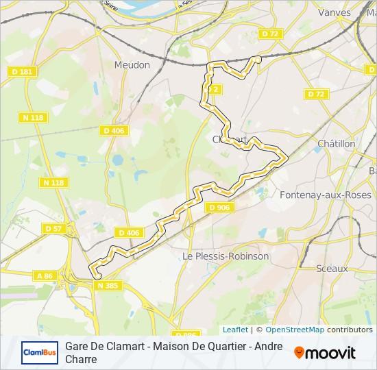Ligne CLAMIBU: Horaires, Stations & Plans - Gare de Clamart