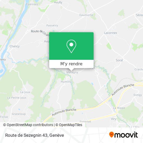 Route de Sezegnin 43 plan