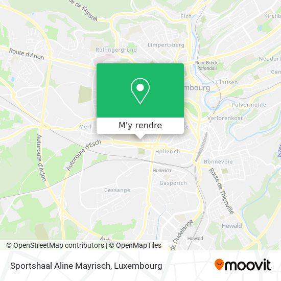 Sportshaal Aline Mayrisch plan