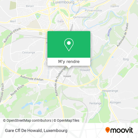 Gare Cfl De Howald plan
