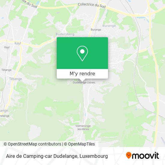 Aire de Camping-car Dudelange plan