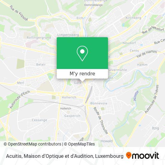 Acuitis, Maison d'Optique et d'Audition plan