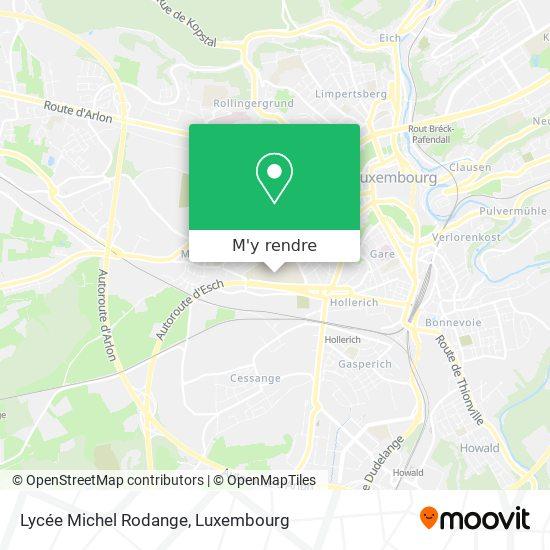 Lycée Michel Rodange plan