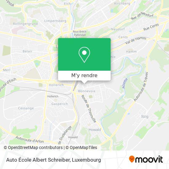 Auto École Albert Schreiber plan