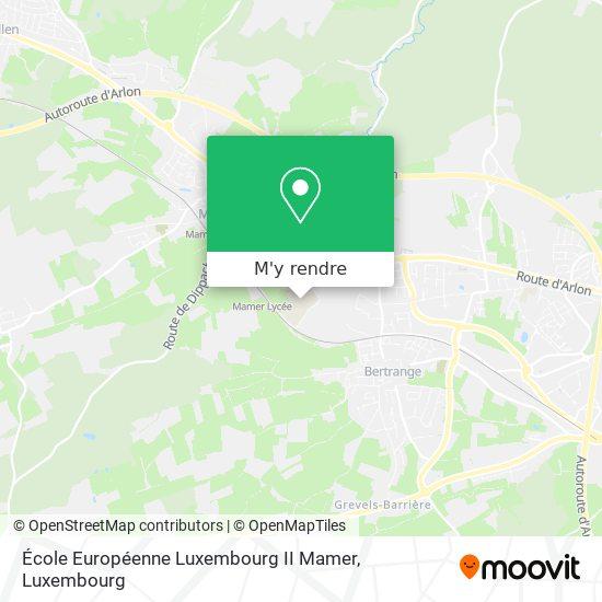 École Européenne Luxembourg II Mamer plan