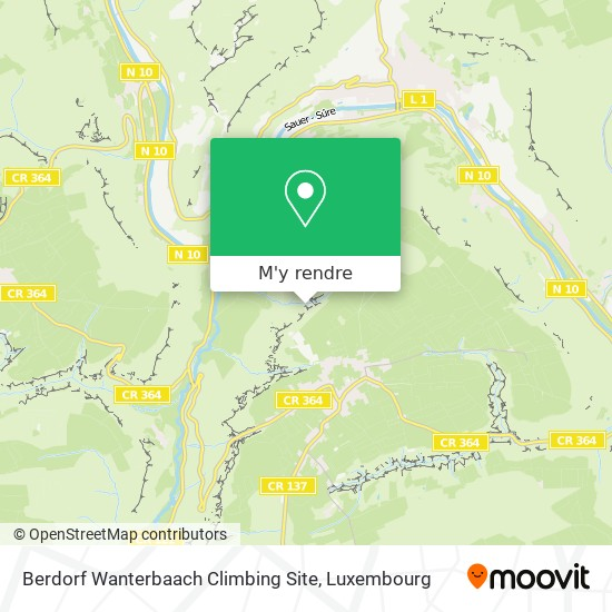 Berdorf Wanterbaach Climbing Site plan