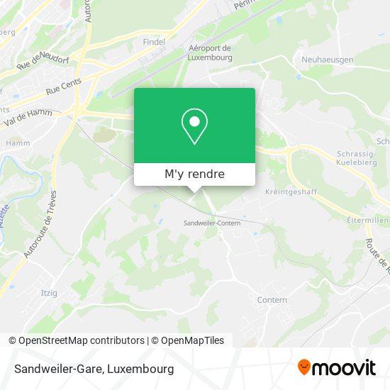 Sandweiler-Gare plan