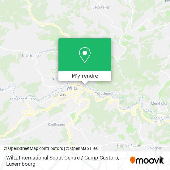 Wiltz International Scout Centre / Camp Castors plan