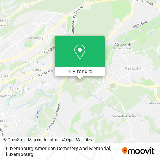 Luxembourg American Cemetery And Memorial plan