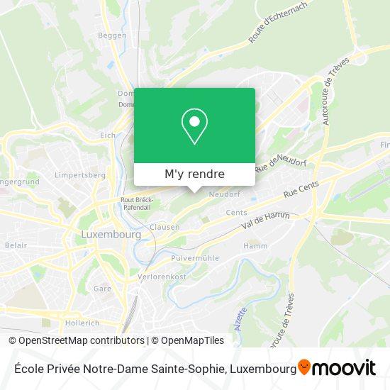 École Privée Notre-Dame Sainte-Sophie plan