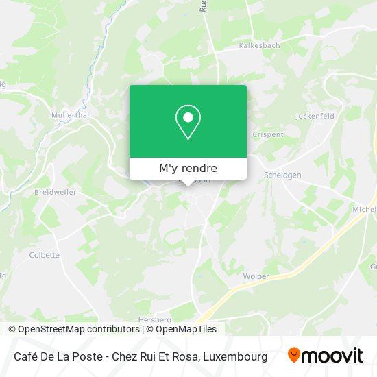 Café De La Poste - Chez Rui Et Rosa plan