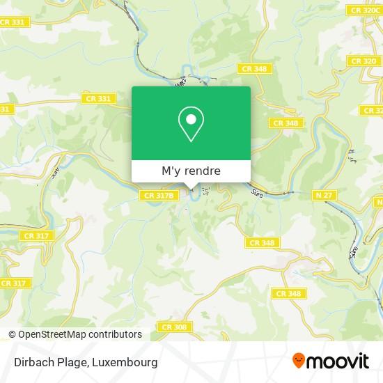Dirbach Plage plan