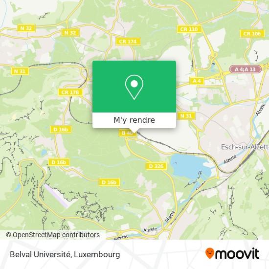 Belval Université plan